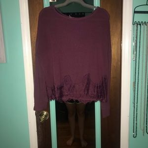 dark purple sweater